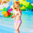 Little girl in aquapark — Stock Photo #27145809