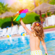Stock Photo: Baby girl in waterpark