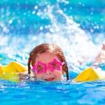 Cute arabic girl in the pool — Stock Photo
