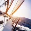 Luxury yacht in action — Stock Photo