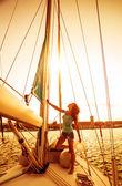 Krásný námořník dívka — Stock fotografie