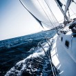 Sailboat in action — Stock Photo