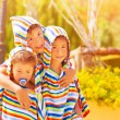 Three funny child — Stock Photo