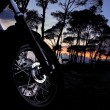 Motorbike at night — Stock Photo
