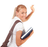 Happy student girl — Stock Photo