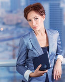 Businesswoman on the meeting — Stock Photo