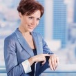 Stock Photo: Businesswomwaiting for someone