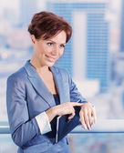 Businesswoman waiting for someone — Stock Photo