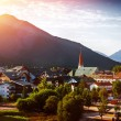 Beautiful city in the mountains — Stock Photo