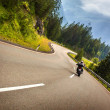 Biker in Austrian mountains — Stock Photo