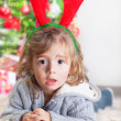 Little boy on Christmas celebration — Stock Photo #32242983