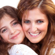Happy mother with daughter — Foto Stock