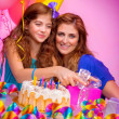 Little girl birthday party — Stock Photo