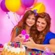 Happy birthday of daughter — Stock Photo