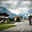 Stock Photo: Biker touring Europe
