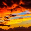 Amazing sunset sky background — Stock Photo