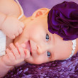 Stock Photo: Stylish newborn baby