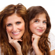 Sweet girl with mother — Stock Photo