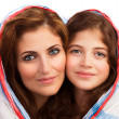 Portrait of mother with daughter — Stock Photo