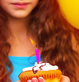 Lovely birthday girl — Stock Photo