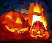 Mysterious Halloween night — Stock Photo
