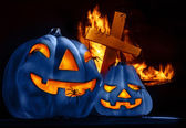 Traditional Halloween decorations — Stock Photo