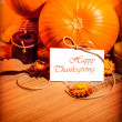 Thanksgiving day still life — Foto Stock