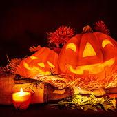 Scary pumpkin Halloween — Stock Photo