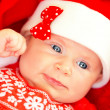 Little baby on Christmas celebration — Zdjęcie stockowe #35017899