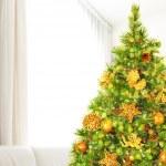 Árbol de Navidad en casa — Foto de Stock