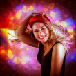 Happy dancing girl — Stock Photo