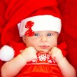 Baby girl celebrate Christmas — Foto Stock