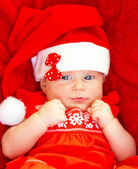 Baby girl celebrate Christmas — Stock Photo