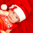 Baby girl celebrate Christmas — Stock Photo