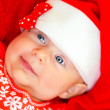 Little baby on Christmas celebration — Stok fotoğraf
