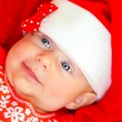 Little baby on Christmas celebration — Stockfoto