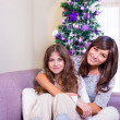 Christmas celebration at home — Stock Photo