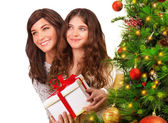 Receive Christmas gift — Stock Photo