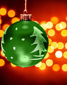 Green Christmastime decoration — Stock Photo