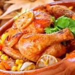 Tasty baked chicken — Stock Photo #35942805