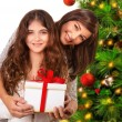 Happy family celebrate Christmas — Foto Stock