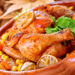 Tasty baked chicken — Stock Photo
