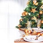 Christmas dinner border — Stock Photo