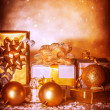 Stock Photo: Golden presents