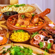 Festive Thanksgiving table — Stock Photo