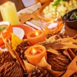 Thanksgiving day table decor — Stock Photo #36115277