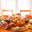 Thanksgiving day dinner — Stockfoto
