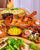 Festive Thanksgiving table — Stockfoto