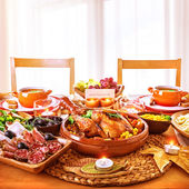 Thanksgiving day dinner — Foto de Stock