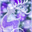 Reindeer Christmas decoration — Foto Stock